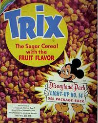Later In A 1985 Commercial Bugs Bunny Tried To Help The Trix Rabbit Get Bowl Of Cereal