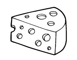 Gruy¨re cheese coloring page