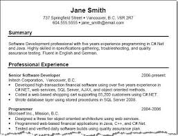 Sample Summary In Resume Examples
