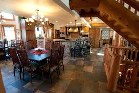 Inspiration For A Large Craftsman Porcelain Floor Kitchen Dining Room Combo Remodel In Milwaukee With