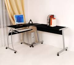 Small Glass And Metal Computer Desk by Funiture Modern Computer Desks Ideas With Black Metal Computer