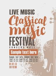 Classical Music Retro Concert Poster Template 07