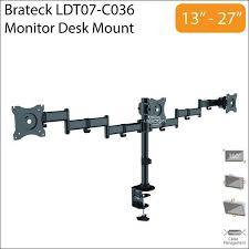 Vesa Desk Mount Arm by Brateck 13 27 Inch Triple Lcd Monit End 8 15 2018 10 15 Pm