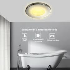 10x 5w led badezimmer einbaustrahler ip44 gu10