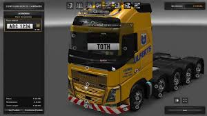 100 Euro Truck Simulator 2 Truck Mods SImulator Mod Volvo FH 10x4 Para 1 Download Game