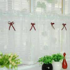 details zu scheibengardinen weiß küche gardinen küchengardine bistrogardine landhaus leinen