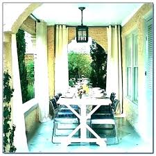Outdoor Patio Curtains Ideas Porch Curtain Rods Decorating Living Room With Sliding Glass Door Pa