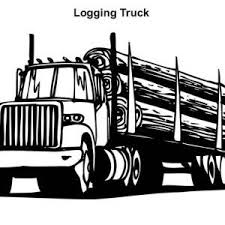 Semi Truck Logging In Coloring Page