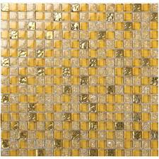 glass tile backsplash border bathroom gold glass cracked