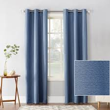 Walmart Thermal Curtains Grommet by Sun Zero Cooper Textured Thermal Lined Blackout Energy Efficient