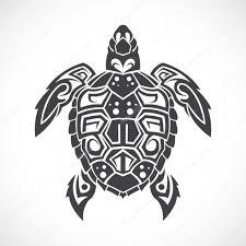 Zentangle Tortue Stylisée Tribale Hand Drawn Aquatique Vecteur