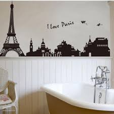 Eiffel Tower Bedroom Decorations Building In Romantic Pairs Large Black Art Wall Home Wallpaper