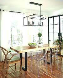 Modern Farmhouse Dining Room Table Lighting Contemporary Decor Simple
