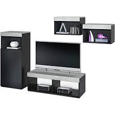 vladon wohnwand modernes wohnzimmer möbel set korpus