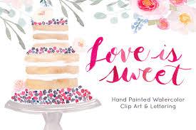 Wedding Cake Watercolor Clip art