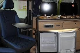 Scudo Campervan Conversion Kitchen Area With Fridge