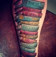 Book Lovers Calf Tattoo