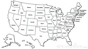 United State Map Outline California Template