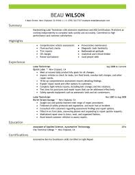 Get Started On Your Resume Today With These Examples And Start Working As A Lube Technician Sooner