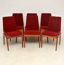1950's Set Of 6 Vintage Dining Chairs By Robert Heritage For ... Vner Panton Chair Ding Chairs 2menvisionnl Vintage 6 Lindebjerg Danish Homestore Wooden Red Ding Chair Set Of 4 Vintage Italian In Rosewood By Gifranco Frattini For Cassina Liberty Fniture Series Bow Back Side Red 2 Pair Leather Dning Norwich Norfolk Arm Mid Century Good Old Six And White 1970s Chrome Chairs Yellow French Metal And Wood Leather For Cafe
