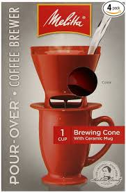 Add On Item 4 Pack Melitta Single Cup Pour Over Coffeemaker