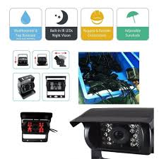 100 Truck Camera System 1224v 2 Car Dvr Wired Rear View Backup Camera System And 7 Inch