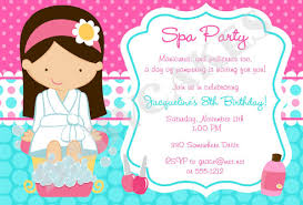Spa Day Invitations