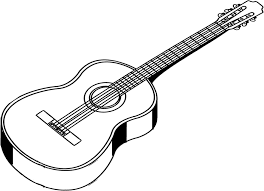 Electric Guitar Coloring Page Clipart Outline Clipartxtras