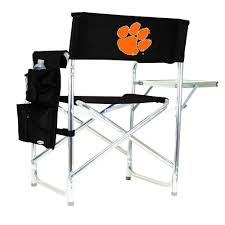 Picnic Time Clemson University Black Sports Chair With Digital Logo Ncaa Zero Gravity Clemson Orange Chair Black Tigers Recling Camp Folding Chairs College Covers Textilene Pine Rocking Replacement Sling With Pillow Pnic Time University Sports With Digital Logo Academy Lcc12331 Round Table 30in Oversized Gaming Brands Elite