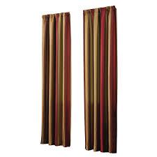 shop allen roth alison 95 in l striped red rod pocket window