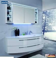 puris crescendo badmöbel 140 cm links mit led spiegelschrank variante l