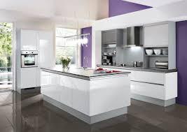 bauformat designküche mit insel hochglanz lack weiß mit