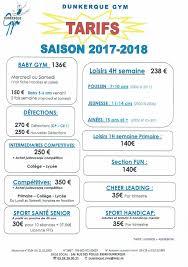 dunkerque officiel tarifs saison 2017 2018