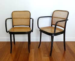 Thonet Bentwood Chair Cane Seat by Set Of 2 Mid Century Cane Bentwood Prague Armchairs Designed By