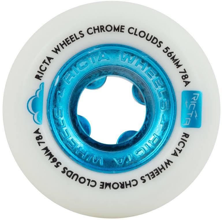 Ricta Soft Cruiser Skateboard Wheels 56mm Chrome Clouds 78A Blue