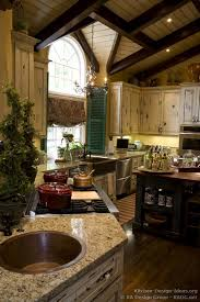Country French Kitchen Cabinets With An Antique White Crackle Finish 01