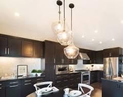 brushed nickel kitchen island lighting