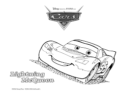 Lightning Mcqueen Printable Colouring Pages