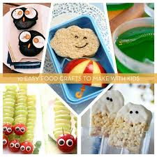Roundup 10 Easy Food Crafts To Make With Kids