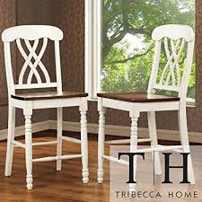 Mackenzie White Counter Height Chair Set Of 2 Accent Chairs Dining Room