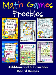 Addition And Subtraction Math Board Games