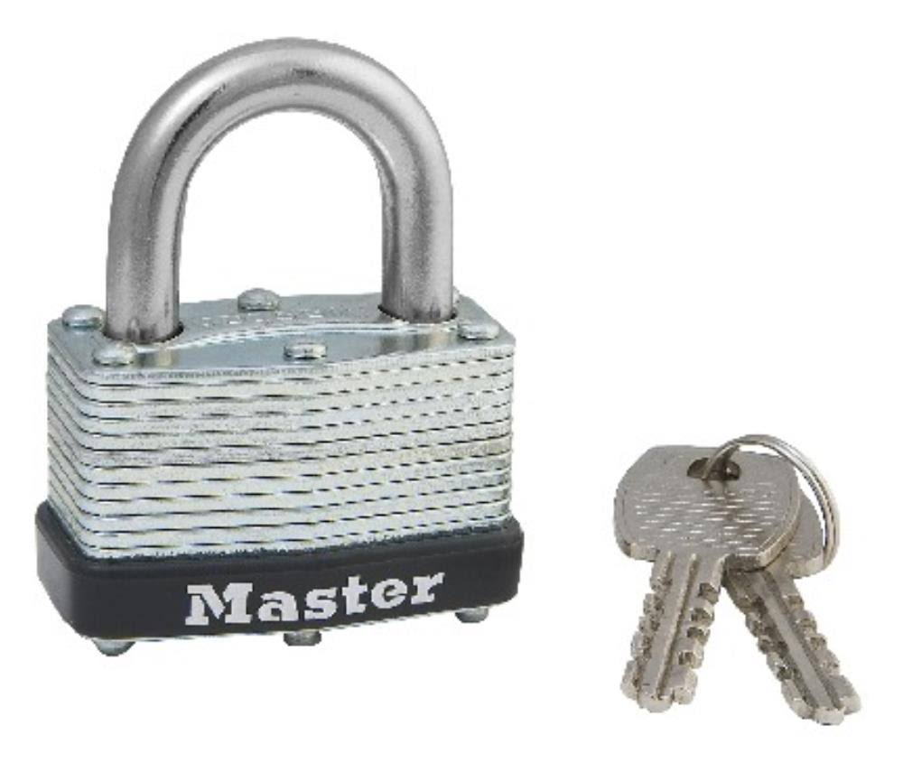 Master Lock Warded Padlock - Steel, 1-3/4""