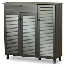 baxton studio adalwin 3 door entryway shoes storage cabinet