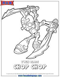 Skylanders Swap Force Undead Twin Blade Chop Coloring Page