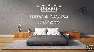 wandtattoo schlafzimmer wandtatoo krone für paare mit namen und jahrestag pk93