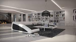 sam sofa garnitur schwarz weiß weiß ciao rechts 205 x 355 x 250 cm designed by ricardo paolo wohnlandschaft futuristisch wohnzimmer sofa landschaft