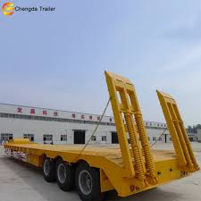 100 Semi Truck Trailers 3 Axles Triaxle 50 60 Ton Lowboy Lowbed Price Low Bed Buy Price Low Bed Low Bed TrailerHydraulic Low Bed