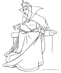 Free Coloring Disney Queen Pages At Best 25 Snow White Ideas On