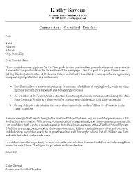 Resume Cover Letter for Teacher