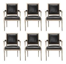 100 Black Leather Side Dining Chairs WorldClass French Louis XVI Style In